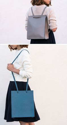 Women's Fashion Ideas - The M.R.K.T.'s Spring 2017 Collection // Designed to be a minimalist, compact commuter bag, the Rey Backpack can be used as both a backpack or a shoulder bag depending on what you find most comfortable when you're on the go.
