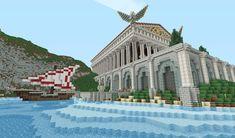 Amazing Roman Architecture built in Minecraft
