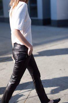 #LittleBlackJean #Leather