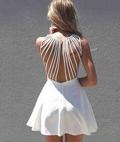 Lattice Open Back Dress