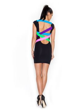 LOVE the back of this dress. And the neon trend in general.
