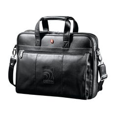 Leather Brief Case #MadeBySoBe #Promotional #Leather #Briefcase