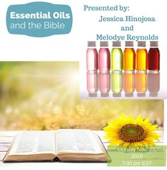 It's class time again! This time I'm teaming up with my good friend and fellow essential oil lover Jessica. We will be teaching a one hour webinar about essential oils and the bible. The bible actually mentions and discusses essential oils hundreds of times. Join us as we share specific bible verses with you and explain how essential oils are part of God's original design! GET REGISTERED NOW. Class is Nov. 23 at 7:00 pm EST! SEATS ARE LIMITED!