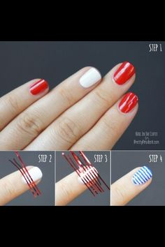 STEP by STEP cute Forth of July nail art
