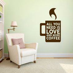 Love And More Coffee Wall Decals Home Décor Wall Decals