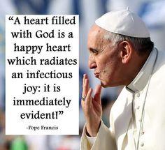 He is amazing. Happy Heart, Pope Francis, Obama, Catholic, Faith, Joy, Amen, Amazing, Glee