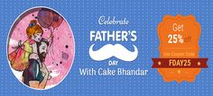 This Father's Day gift your dad the sweetest present to let him know you care. Call at:- +919582763447 #Fathersdaycake #Fathersdayflowers #18june2017 #18june