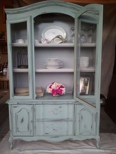 I need to refinish another hutch, and soon ~ they are one of my FAVES! French Hutch {Adeline}
