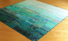 Quilt -  extra king size -  ocean rain - made to order