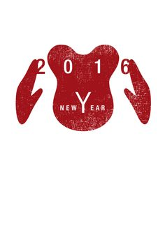 NEW EAR | 年賀状 2016 | Postcard Design New Year Card Design, New Year Designs, Envelope Design, Red Envelope, Chinese New Year Card, New Year Art, New Years Poster, Postcard Design, Nouvel An
