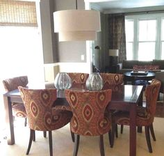 Striped Upholstered Dining Room Chairs  Httpenricbataller Magnificent Upholstered Dining Room Chairs Review