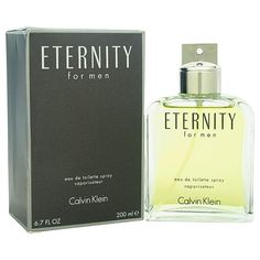 Eternity http://www.perfumes.com/eternity-calvin-klein-men-6-7-oz/ Your Price: $64.54 Launched by the design house of Calvin Klein in the year 1990. This floral fragrance has a blend of lavender, mandarin orange, bergamot, lemon, coriander, lily, orange blossom, juniper berries, basil, jasmine, sage, and brazilian rosewood notes.