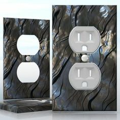 DIY Do It Yourself Home Decor - Easy to apply wall plate wraps | Volcanic Smoke  Plumes of eruption  wallplate skin sticker for 1 Gang Wall Socket Duplex Receptacle | On SALE now only $3.95
