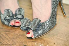 glitter shoes with bow