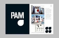 PAM — Page spread from TD Total Design and its pioneering role in graphic design by Ben Bos published by Unit Editions Modern Graphic Design, Graphic Design Inspiration, Pam Pam, Editorial Design, Book Design, Branding, The Unit, Blog, Dutch