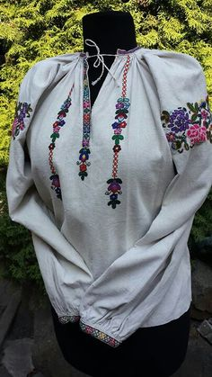 Зх. Поділля Folk Costume, Costumes, Textiles, Floral Embroidery, Indian Wear, Ukraine, Cross Stitch, Womens Fashion, How To Wear