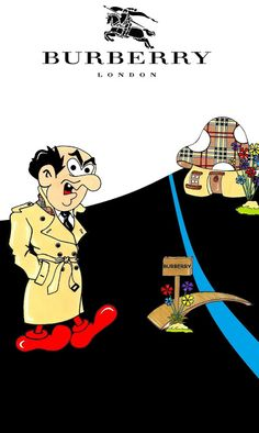 "Humor Chic: Humor Chic Art & Style - The Smurfs ""Gargamel for Burberry"" by aleXsandro Palombo"