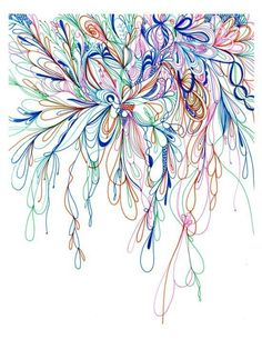 Blossoms Series 2010-02 Giclee art Print from original drawing. $23.00, via Etsy.