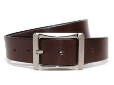 Nickel Smart Black Genuine Top Grain Leather Belt with White Stitching /& Nickel Free Titanium Buckle Whitewater Belt