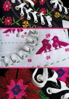 ¡Increíbles bordados artesanales! Tenis Kanan. Diseños únicos.