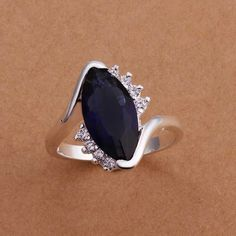 925 Sterling Silver Zircon Silver  Finger Rings for Wedding Gift