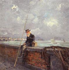 Giovanni Panza (1894-1989) Pescatore a via Caracciolo