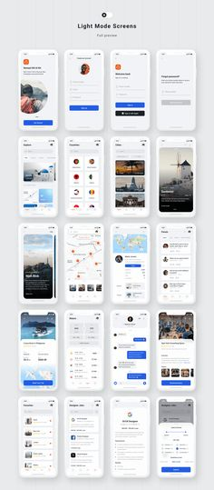 🎒Nomad iOS UI Kit with Design System Customizable and Easy to use Travel UI Kit for iOS 13 with modern and trendy design. With our Design System included in this UI Kit, you will be able to speed-up your workflow and save hundreds of hours. Android App Design, Ios App Design, Android Ui, Interface Design, Web Design Mobile, Web Mobile, Mobile App Ui, Dashboard Mobile, Login Design
