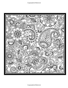 ≡ coloring page Paisley Coloring Book Vol. 2