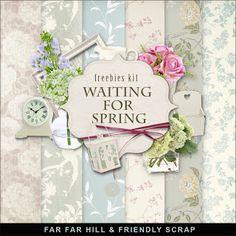 Scrapbooking TammyTags -- TT - Designer - Far Far Hill,  TT - Item - Kit or Collection, TT - Style - Mini Kit, TT - Kit Name - Waiting for Spring