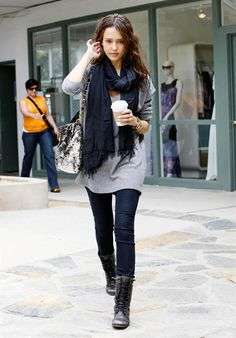 1000+ images about Combat boots on Pinterest | Combat boots Fashion lookbook and Gray leggings