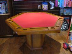 Mesa de poker Modelo hexagonal chica con posas Marca Galazzi
