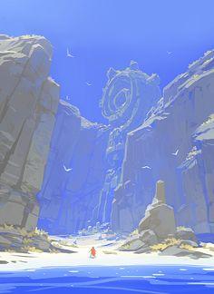 RIME - Alone in a mystery island, Jose Luis Vaello Bertol on ArtStation at https://www.artstation.com/artwork/aZ8a2