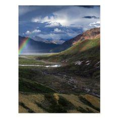 Abstract mountains landscape Alaska Postcard - merry christmas postcards postal family xmas card holidays diy personalize