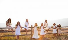 would love to do a fence bridal party photo -- if the fence is sturdy enough!