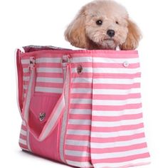 Pink Tote Dog Carrier