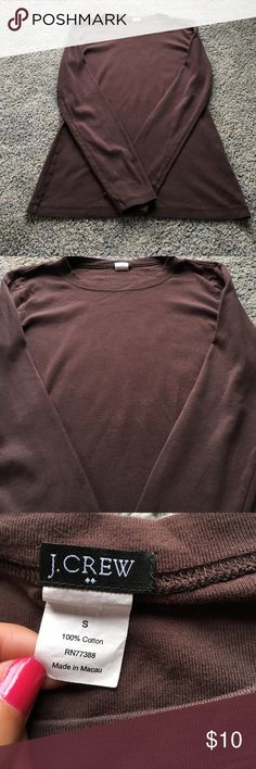 Long sleeve plain J. Crew brown shirt Long sleeve brown J. Crew shirt Tops Tees - Long Sleeve
