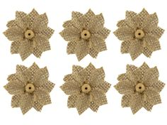 daisy burlap flower | ... Mixed Media Blanks & Embellishments | Natural Burlap Button Daisies