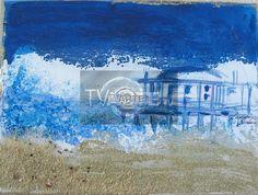 """""""Senigallia 2007"""" Artista: Laura Facchini Categoria: astratto Tecnica: Tecnica mista su tela Dimensioni: cm 18 x 24 #TvArte"""