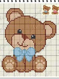 Baby Cross Stitch Patterns, Cross Stitch Baby, Cross Stitch Animals, Cross Stitch Flowers, Cross Stitch Charts, Pixel Crochet Blanket, Crochet Quilt, Crochet Blanket Patterns, Crochet Baby