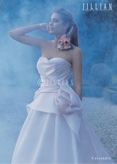 Silk Organza in a delicate Pale Pink. Jillian Sposa New Collection.