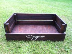 Beautiful pallet dog bed made by my friend Kristen!