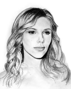 Desenho a lapis Scarlett Johansson / pencil traditional drawing