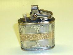KW (KARL WIEDEN)  MODELL 650  LIGHTER W. 900 SILVER CASE & GOLD - 1932 - GERMANY