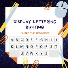 Perfect for all your displays - be it in class over your display boards for subject names or be it for a lovely door display this bunting style lettering will cover all! Poetry Anthology, Job Chart, Spelling Lists, Door Displays, Display Lettering, Classroom Rules, Enough Is Enough, Bunting, To Tell