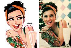 Tattooed Girl by MZ09 Julio Cesar Artist   Professional   Digital Art on DeviantArt