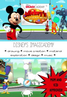 Disney's Imagicademy Mickey's Creative Arts World | AMAZING iPad app for kids ages 3-8