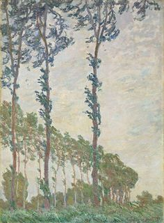 Poplars, Wind Effect Artwork By Claude Oscar Monet Oil Painting & Art Prints On Canvas For Sale Monet Paintings, Impressionist Paintings, Landscape Paintings, Claude Monet, Pierre Auguste Renoir, Edgar Degas, Famous Art, Oil Painting Reproductions, Water Lilies