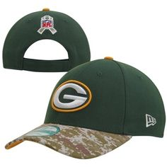New Era Green Bay Packers 2013 Salute to Service 9FORTY Adjustable Hat - Green/Digital Camo #SalutetoService #Packers
