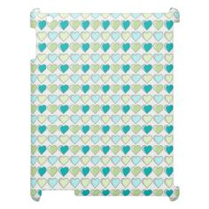 Ipad Mini Funda Corazones Verdes / Green Hearts