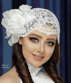 Wedding Hijab Styles, Disney Wedding Dresses, Pakistani Wedding Dresses, Dream Wedding Dresses, Dramatic Wedding Makeup, Bridal Makeup, Bridal Hijab, Hijab Bride, Boat Neck Wedding Dress